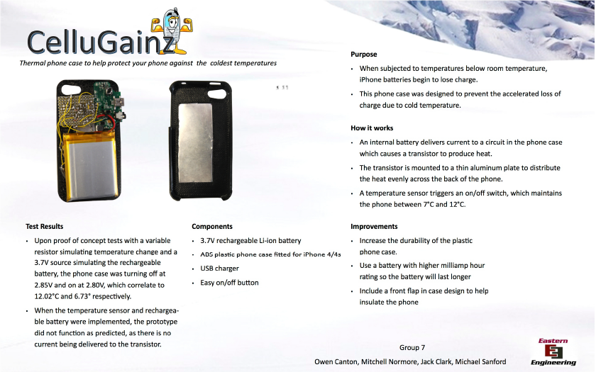 Cell Phone Warmer ~ What about sports ivan curry school of engineering